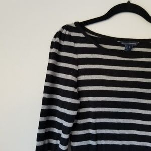 French Connection | Grey & Black Sweater Dress | 6
